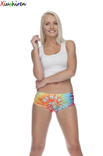 XIUSHIREN colorful printing women brief fancy underwear women panty sexy ladies pictures C036
