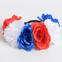 Women's Girl Flower terry cloth rabbit ear headband