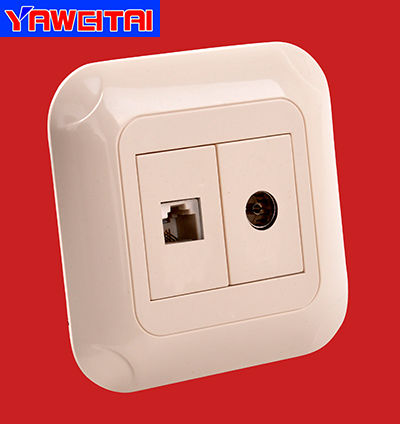 european style TV and telephone socket