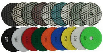 Best quality cheapest stone dry diamond polishing pad