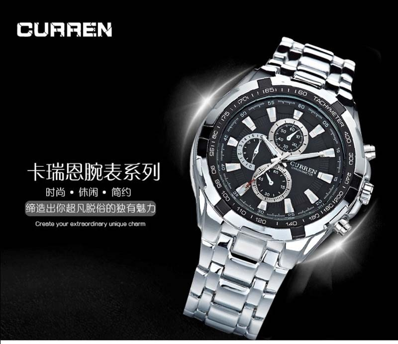 CURREN Watch Men quartz TopBrand Analog Military male Watches Men Sports army Watch Waterproof Relogio Masculino8023