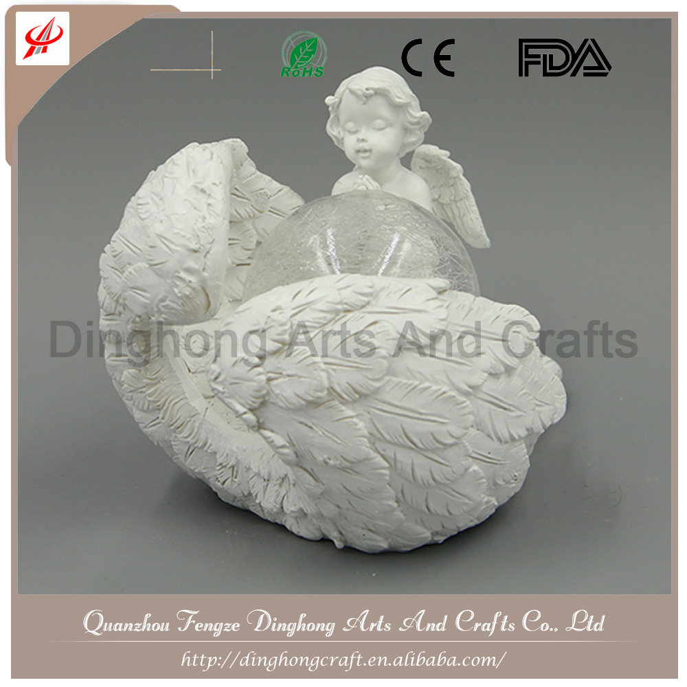 Factory OEM Design Resin Fairy Figurines Little Baby Angel Sculpture
