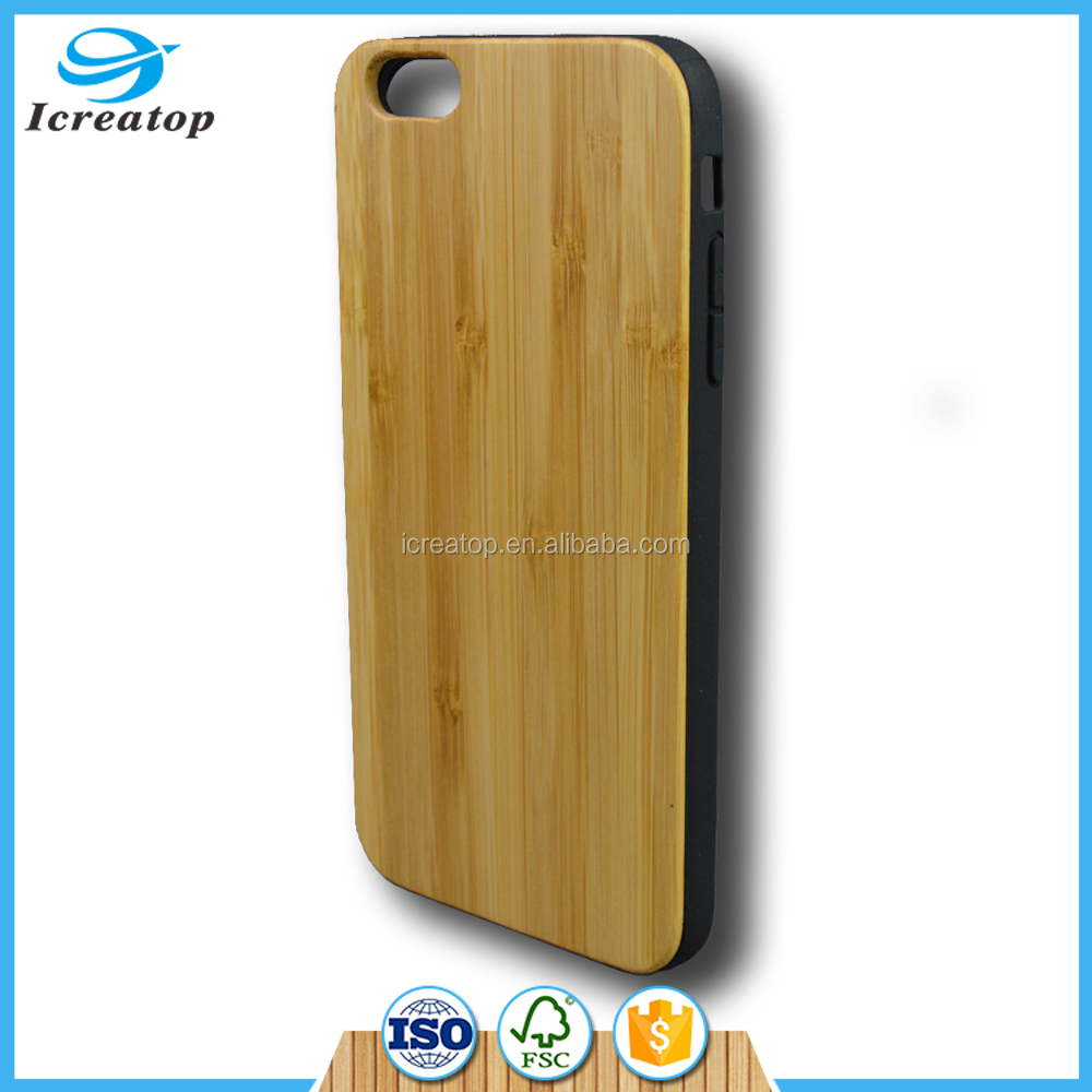 True Wood thin Case for iPhone 6s 6Plus SE 5s Handmade Natural Genuine Bamboo Real Wooden slices + Durable Plastic Back Cover
