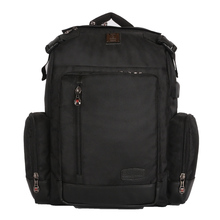 Black 3 compartment laptop bag backpack for 16.5 inch laptop with waterproof