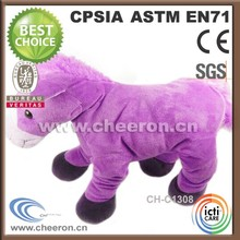 Standing stuffed pink plush large horse toys
