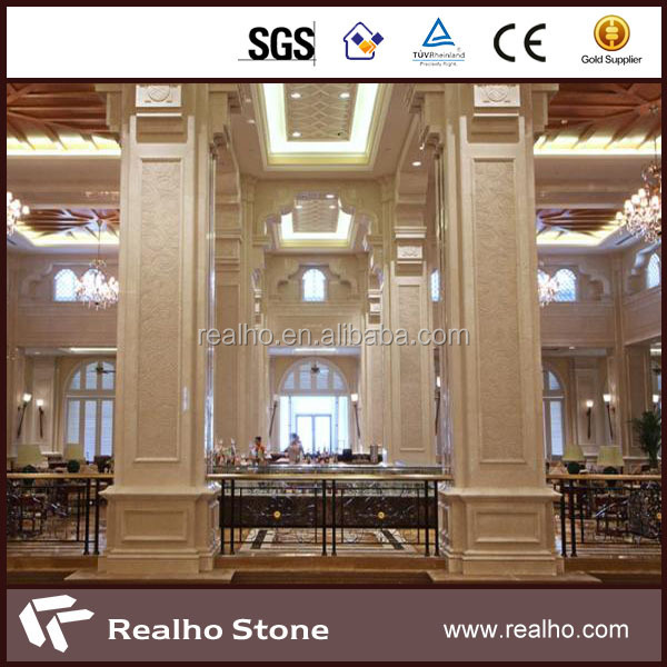wholesale square marble columns roman pillar for decoration