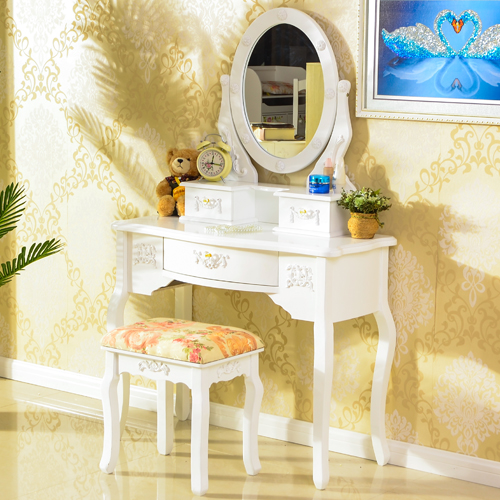 Promotion European Bedroom Furniture Customized Wood Dressing Table with Mirror