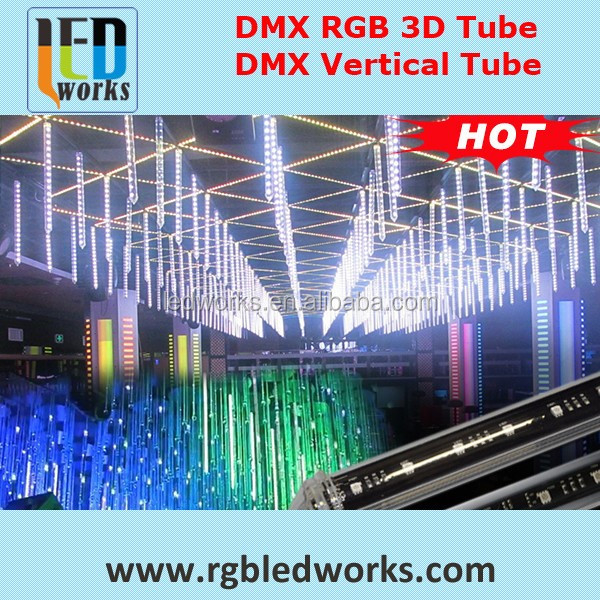 dmx 3D vertical tube,led stage lights with laser series