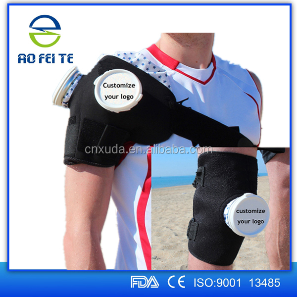 2017 Best seller Sport Injury Ice pack Knee Wrap Cooler Ice Bag For Medical Supply
