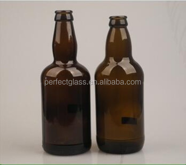 500ml Emerald Green Amber Flint Beer Glass Bottle