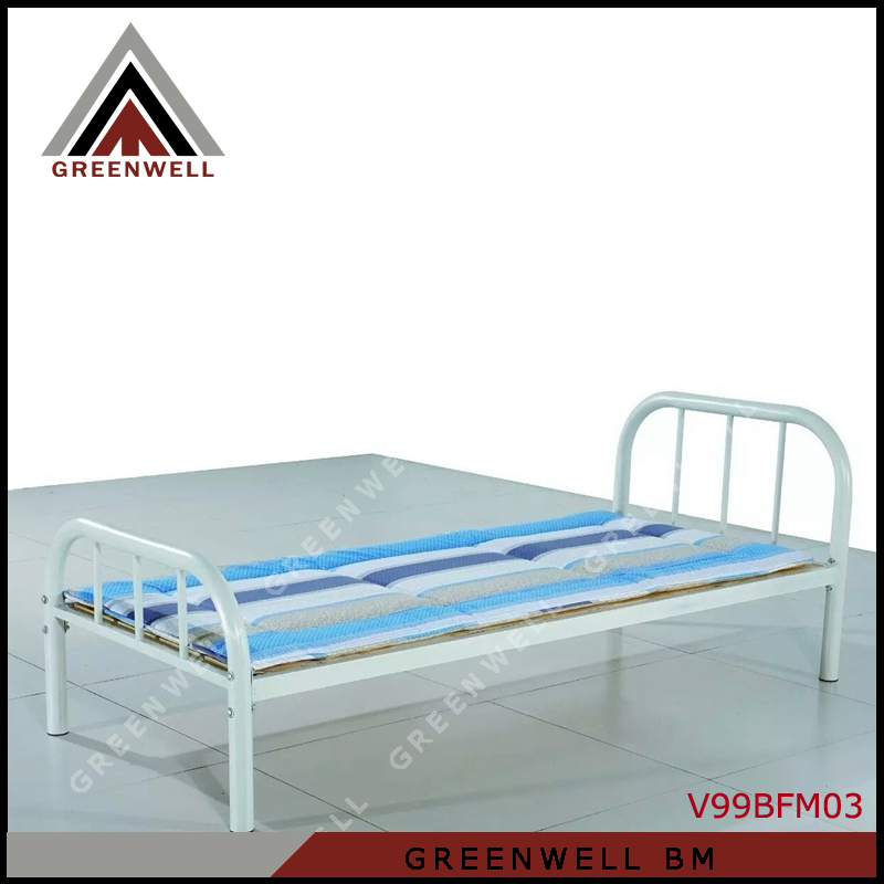 V99BFM03 Powder Coated Metal Frame Modern Single Twin Size Bed