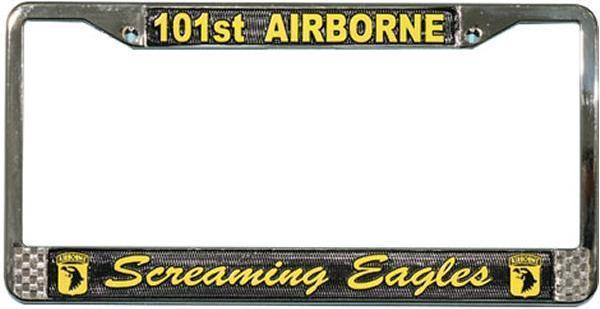 U.S. Army 101 Airborne Screaming Eagles License Plate Frame