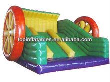 2013 hot sale and new design wheel inflatable slide