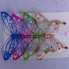 Vivid design cheap glitter powder handmade butterfly for sale