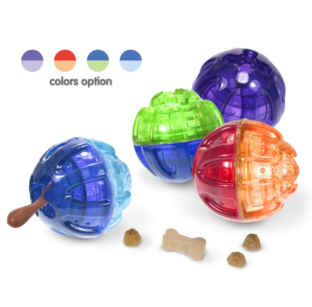 2018 New Dog Toy Products TPR Treat & Play Ball For Any Dogs