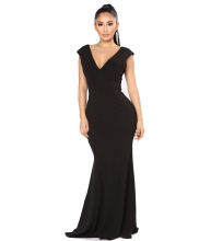 summer casual sexy back classic V neck long dress black women maxi dress for ladies