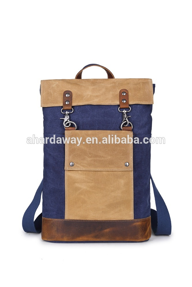 Wholesale high quality custom waterproof wax canvas bag