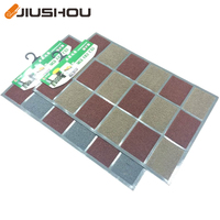 Large plastic Indian style PVC coil spaghetti floor roll mat for outdoor