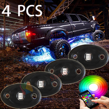 Super Bright 8-Pod Mini Bluetooth RGB LED Rock Light Multi-Function 4x4WD for offroad Vehicle