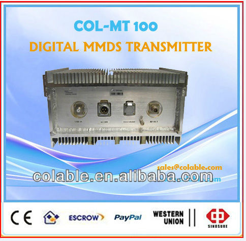 Wireless video audio Transmitter and receiver digital MMDS Broadband QAM/QPSK fm broadcast Transmitter