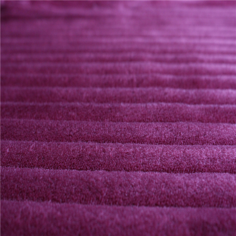 Beautiful purple color 100% polyester double-side super soft velvet