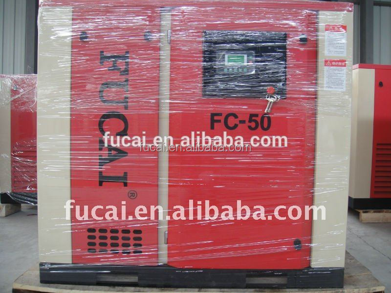 Supply for the plastic machine factory 37KW 5.1m3/min 13bar FUCAI oil screw air compressor .Noise: 68