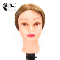 female natural hair hairdressing training mannequins head