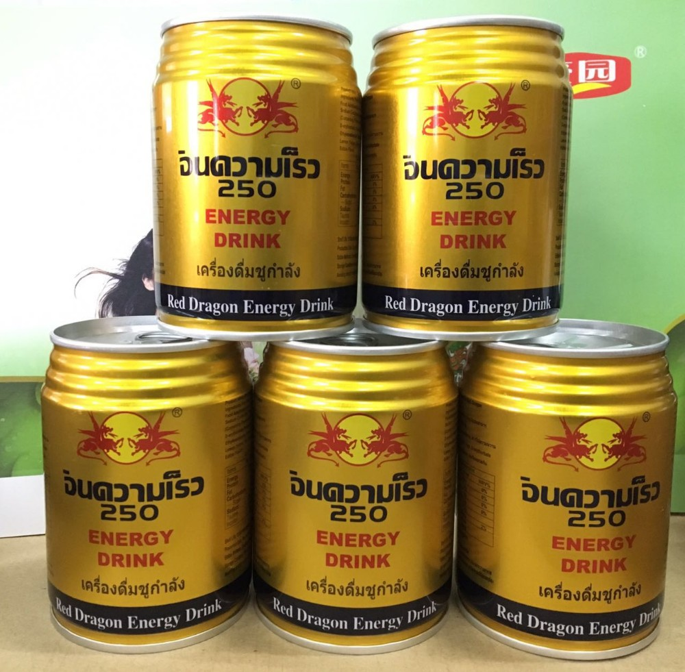China Wholesale Powerful Red Dragon Energy Drink in 250ml tinplate can