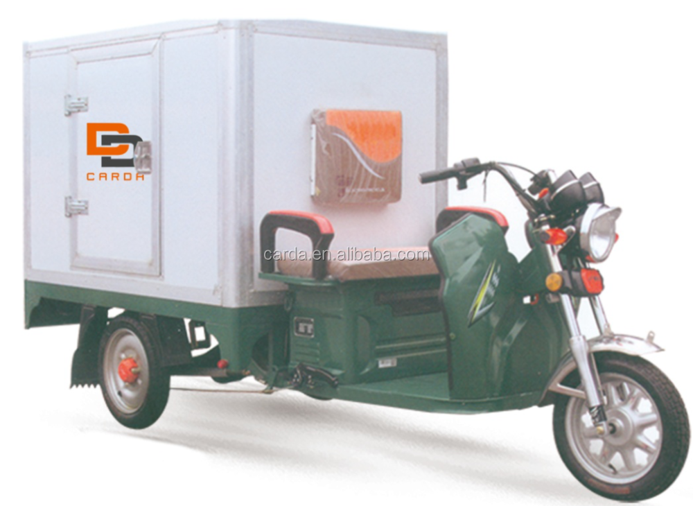 850-1000W Power Enclosed Body Electric Delivery Trike For Sale