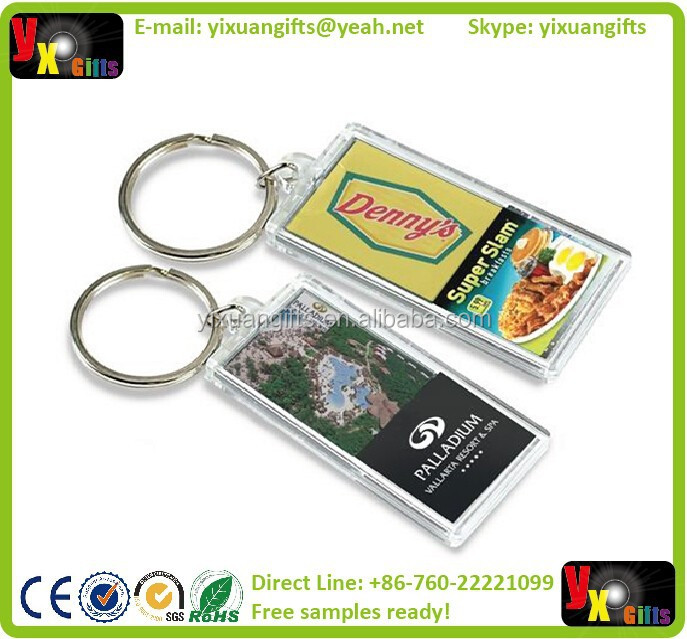 The Transparent Flash Solar LCD Keychain, acrylic keychain