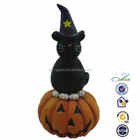 on pumpkin resin cat ornaments crafts