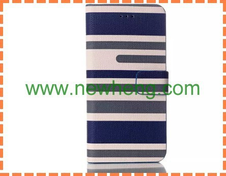 Newest Products Stripe Flip Pu Leather Case For iPhone6 6 plus