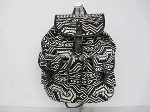 Cheap Stock Aztec Canvas Tribal Backpack made in China wholesale