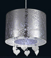 Wall lampshade trim stainless steel wire frame rattan lampshade