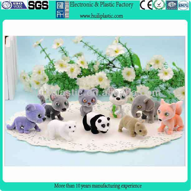 Plastic pvc miniature figure toy/ plastic animal figure for decoration