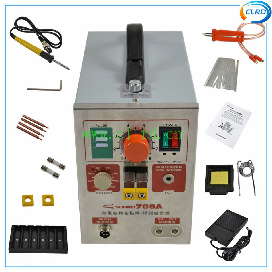1.9kw Pulse Spot Welder Sunkko 709A Battery Welding Soldering Machine 110V 220V battery cells spot welder