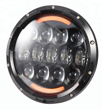 High quality 105W 7inch high low beam DRL and turning light Osram led round 7 inch headlight for jeep wrangler