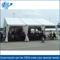 6061-T6 aluminum frame 20 person restaurant food tent, sunshade party tent