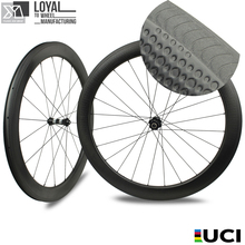 Chinese high profile carbon wheels 700C bicycles carbon wheels trending hot products dimple finishing