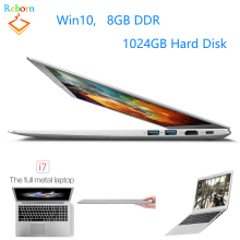 Ultra Thin Slim 15.6 inch 8GB RAM 1024GB ROM Intel i7 Windows win 10 Game PC Laptop with whole metal cover