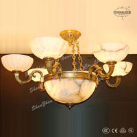 luxury Traditional home faux alabaster pendant lamps in bronze finished ETL873883