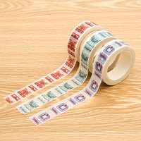 Custom Printed Multi Colorful Decoration Stationery Label Washi Masking Tape