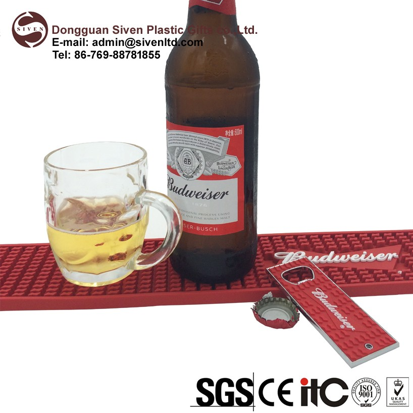 custom soft pvc bar counter mat