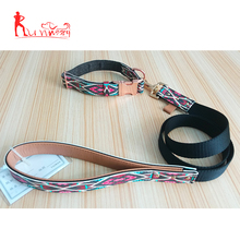 Pet Products 4ft Newly Designed Best Quality Leather&Nylon Dog Cat Lead Luxury Pet Leash and Collar Set