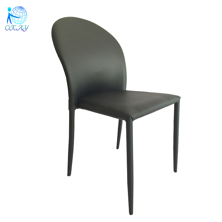 different colored high back PU chair for dining room