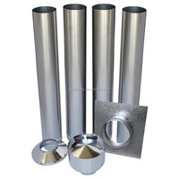 wood heater flue kits of galvanized steel pipe prices