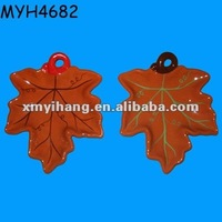 Designer terracotta maple leaf shape plates