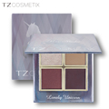 Make your own brand 4 colors shimmer foiled eyeshadow palette China brand cosmetics