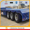 low bed truck semi trailer sale with 60ton 80ton 100ton loading