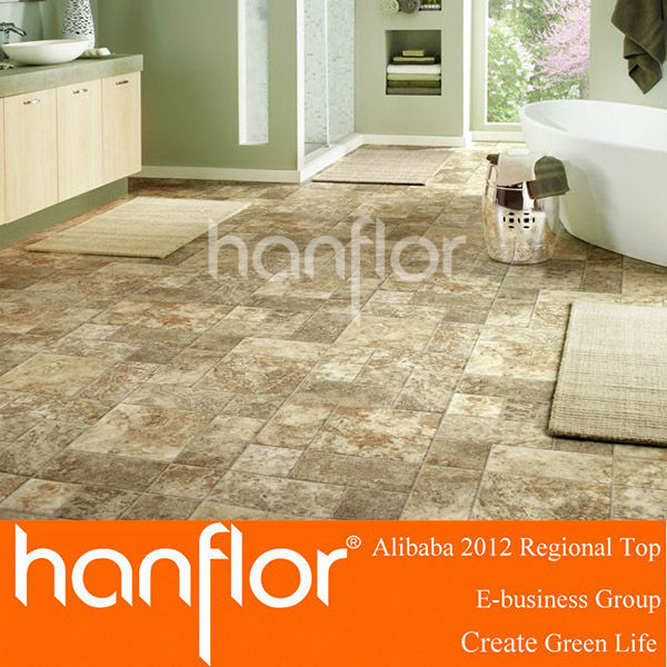 Good price bathroom use click vinyl floor tile
